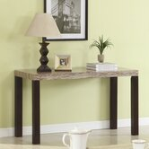 Travertine Top Console Table