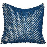 Sprout Blue on White Pillow