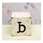 &quot;b&quot; Letter Block in Pink