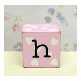 &quot;h&quot; Letter Block in Pink
