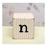 &quot;n&quot; Letter Block in Pink