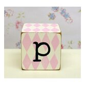 &quot;p&quot; Letter Block in Pink