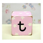 &quot;t&quot; Letter Block in Pink
