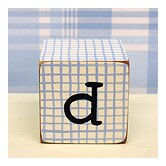 """d"" Letter Block in Blue"