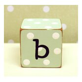 """b"" Letter Block in Green"
