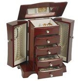 Dara Cherry Jewelry Box with Pearl Drawer Pulls
