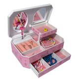 Rose Girl's Glitter-Daisy Musical Ballerina Jewelry Box