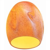 Egg Shaped Glass Shade in Amber Art