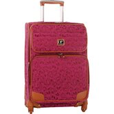 "Hearts 24"" Expandable Spinner Suitcase"