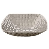 Handmade Decorative Mora Snack Container in Bright Silver