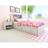 Willow Storage Bed &amp; Bookcase Headboard