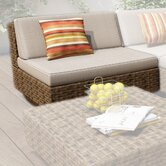 Park Terrace Deep Seating Armless Middle Chair with Cushions