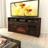 "West Lake 68"" TV Stand with Electric Fireplace"