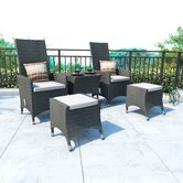 Cascade 5 Piece Lounge Seating Group with Cushions