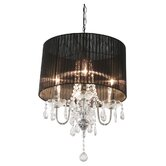 Beaumont Four Light Chandelier in Chrome
