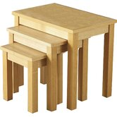 Alexander Nest of Tables in Natural Oak Veneer