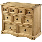 Corona 9 Drawer Wide Chest