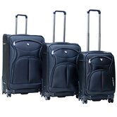 Sydney Expandable 3 Piece Spinner Luggage Set