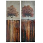 "Fall Day Stretched Canvas High Gloss Oil Painting (Set of 2) - 60"" x 20"""