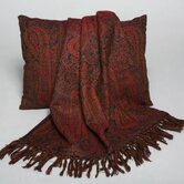 Jamavaar Paisley Wool Throw with Fringe