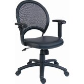 Sirocco Leather with Mesh Back Chair