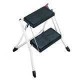 Mini 2 Step Stool in White and Black