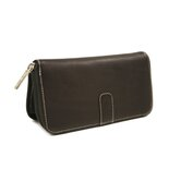 Women's Zip Around Wallet in Chocolate