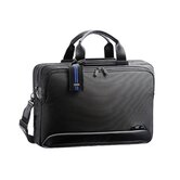 Dual Blue 17.3&quot; Expandable Computer Briefcase