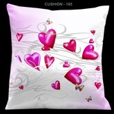 Valentines Pillow with Pale Pink Hearts