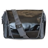 Digi Dude Canvas Laptop Bag in Black Coated / Grey
