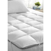 Down Mattress Pad in White