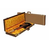 Deluxe Stratocaster / Telecaster Case in Brown with Gold Interior