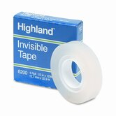 "Invisible Permanent Mending Tape, 1/2"" X 1296"", 1"" Core"