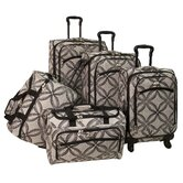 Silver Clover 5 Piece Spinner Luggage Set