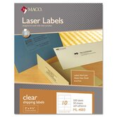 Matte Clear Laser Labels, 2 x 4 1/4, 500/Box