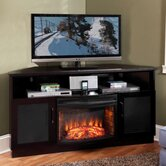 61&quot; TV Stand with Curved Electric Fireplace