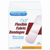 Fabric Adhesive Bandages,1 x 3, 50 per Box