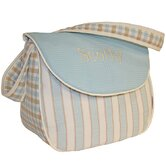 Spa Blue Messenger Diaper Bag