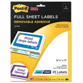 Super Sticky Removable Id Label, 25 Labels/Pack