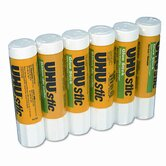 Stic Permanent Clear Application Glue Stick, 6/Pack