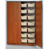 Illusions 84&quot; H Tray Cabinet with Seven Adjustable Shelves