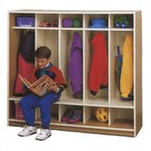 Ten Cubbie Children's Locker with Seat