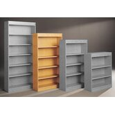 Library 68&quot; H Five Shelf Double Sided Unit