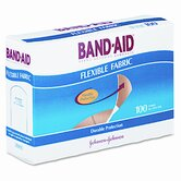 Flexible Fabric Adhesive Bandages, 100/Box