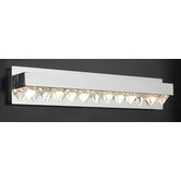 Crysto Six Light Vanity Light  in Polished Chrome