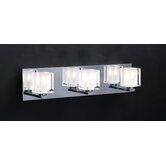 Glacier  Vanity Light  in Polished Chrome