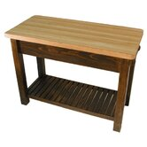 Caney Creek Prep Table with Butcher Block Top