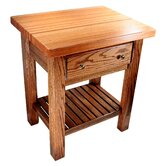 Saline Creek Prep Table with Butcher Block Top