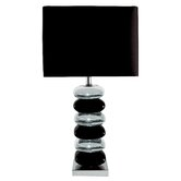 Pair of Table Lamp in Black / Black Chrome