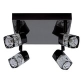 Blocs Four Light Semi Flush Mount